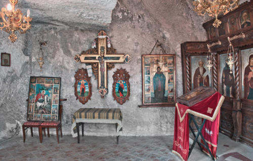 Interior Rock Monastery St Dimitur 10 x 16