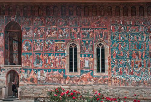 Moldavita Monastery, Romania, Fresco 12 x 18