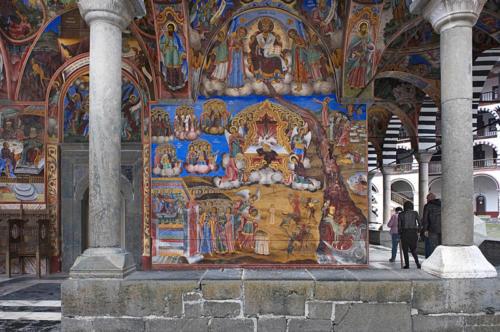 Rila Monastery, External fresco 12 x 18