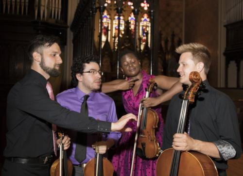 Music Mondays Odin String Quartet with Marco Verza at Holy Trinity in Toronto, July 10, 2017