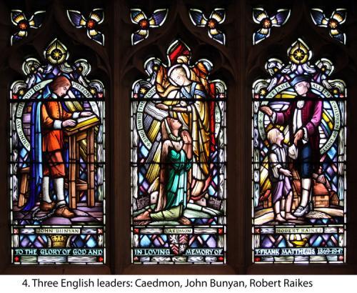 4.+John+Bunyan,Caedmon,+Robert+Raiks