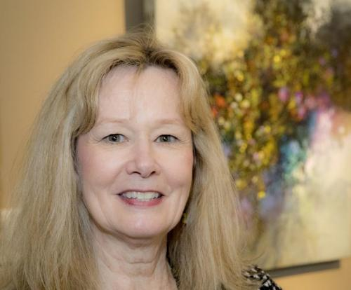 Linda Kemp, Artist at the Yorkminster Park Gallery, Oct. 2017