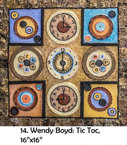 Wendy Boyd, artist, at the Yorkminster Park Gallery
