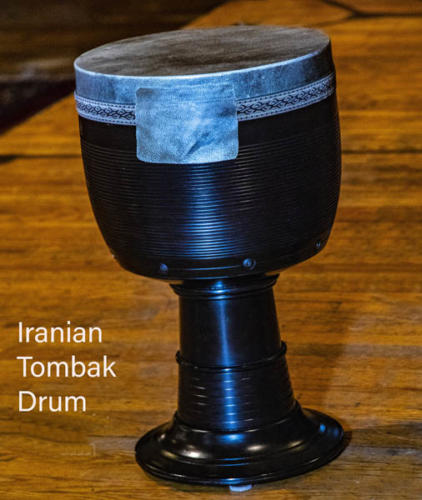 Music Mondays at Holy Trinity, 10 Trinity Square, Toronto, ON. Padideh Ahrarnejad, on Persian Tar, and Ali Massoudi, on Persian drums. July 16, 2018.