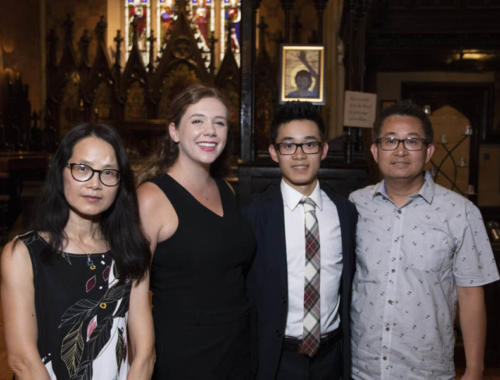 Music Mondays, August 13, 2018. The Arden Duo_ Danielle Sum, percussion and Arthur Tang, piano at the Church of the Holy Trinity, Toronto, Ontario.