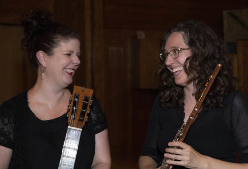 Music Monays at Holy Trinity, July 30, 2018. Azulini Duo_ Emma Rush, guitar and Sara Traficante, flute.