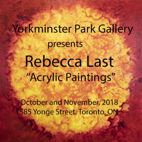Yorkminster Park Gallery: Rebecca Last, Acrylic Paintings. Oct. and Nov. 2018