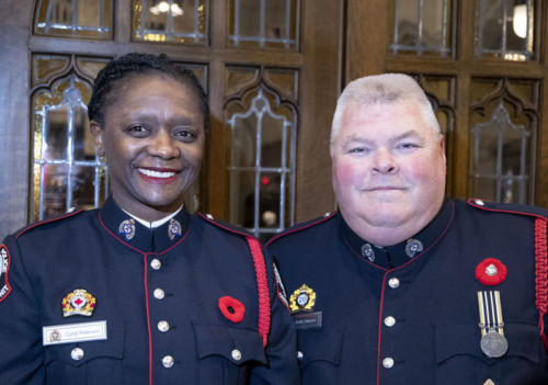 Memorial Service at Yorkminster Park with the Toronto Police Service and Very Rev. Rowan Williams, Nov. 11, 2018