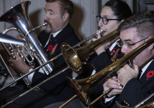 The Toronto Artillery Foundation Band, Ruth Ann Onley, and John McDermott in Concert Nov. 5, 2018 at Yorkminster Park Baptist Church.