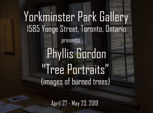 Yorkminster Park Gallery, 1585 Yonge Street, Toronto_ Phyllis Gordon Tree Portraits, April 27
